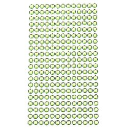 Sheet Self-Adhesive Acrylic Rhinestones Decoration DIY 6 mm color green light -260 pieces