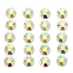 Самозалепващи камъни акрил 5 мм цвят дъга зелена -300 броя