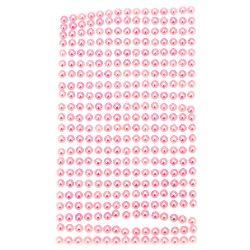 Self-Adhesive Pearl Hemispheres Flatback DIY 5 mm pink light - 330 pieces