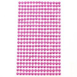 Pietre  perle autoadezive emisfere 5 mm ciclamen - 330 bucăți