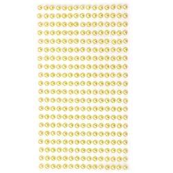 Pietre  perle autoadezive emisfere 5 mm galben - 330 bucăți
