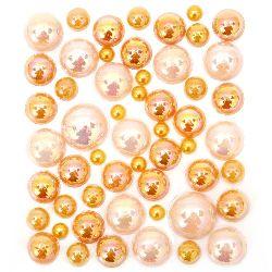 Самозалепващи перли полусфери 4±12 мм дъга