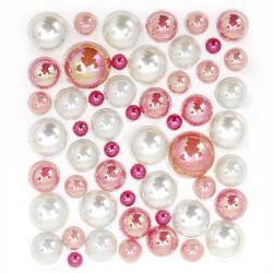 Self-adhesive pearls hemispheres 4 ~ 12 mm arc
