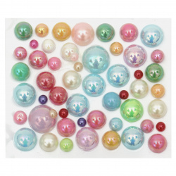 Self-adhesive pearls hemispheres 4 ~ 12 mm arc