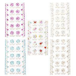 Pietre autoadezive acrilice și perlate mix diferite culori