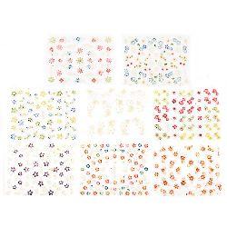 Decoration stickers 3D flowers mix