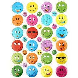 Αυτοκόλλητα smile 7 ~ 18 mm 10 φύλλων x 38 τεμαχίων
