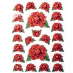 Самозалепващи стикери рози 10 листа x 23 броя
