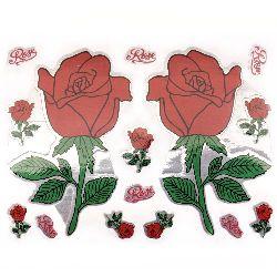 Autocolante autocolante trandafiri 10 frunze x 9 buc