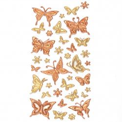 Самозалепващи стикери 3D пеперуди 7~35x8~30 мм