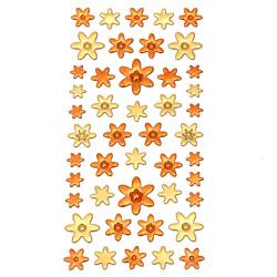 Autocolante autoadezive flori 3D 10 ~ 20x10 ~ 25 mm