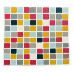 Adhesive stickers for decoration 3D 255x255 squares assorted