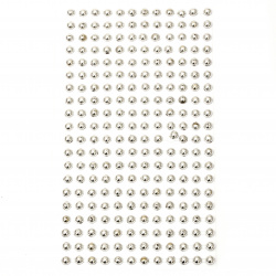Self-adhesive pearls hemispheres metalized 5 mm color silver - 240 pieces