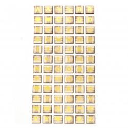 Autocolante autoadezive pentru decor 16x16 mm Litere și imagini - 72 buc