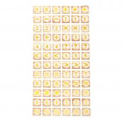 Autocolante autoadezive pentru decor 16x16 mm Numere și semne - 72 buc