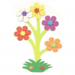 Μπουκέτο λουλουδιών 180x285 mm - 6 τεμάχια