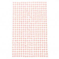 Self-adhesive pearls hemispheres 4 mm pink light - 442 pieces