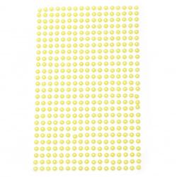 Self-adhesive pearls hemispheres 4 mm yellow - 442 pieces
