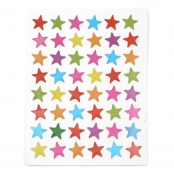 Adhesive stickers 13 mm stars mix 10 sheets x 48 pieces