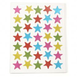Autocolante autoadezive stele de 16 mm amesteca 10 foi x 35 buc