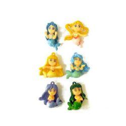 Mermaids2 27 mm asortate 6 tipuri - cerere minimă 10 bucăți