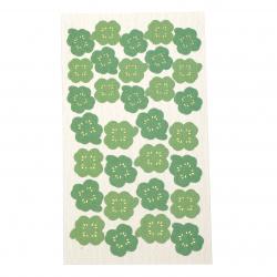 Самозалепващи хартиени стикери за декорация детелини -31 броя