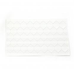 Самозалепващи фото ъгли/ъгълчета за снимка 147x103x0.3 мм триъгълник 12x15.5 мм цвят бял