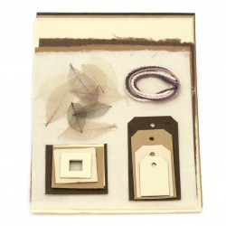 URSUS Σετ για άλμπουμ / λεύκωμα Umbra Selection light of scrapbook sets χαρτί mulberry 4 φύλλα A4 ανάμεικτα χρώματα χειροποίητο χαρτί 3 φύλλα 55x47 εκ. Και μιξ διακοσμητικά στοιχεία