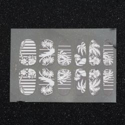Стикери за нокти бели с кристали