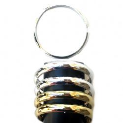 Гривна пластмаса 12 мм диам68 мм Цвят сребро и злато
