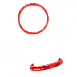 Гривна пластмаса с брокат многостен 10 мм диаметър 64 мм Червена -12 броя