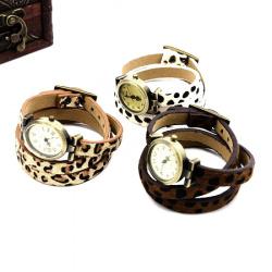 Часовник естествена кожа метал цвят античен бронз 600x10 мм АСОРТЕ