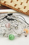 Гривна ШАМБАЛА котешко око текстил стъкло 55~100 мм