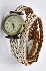 Часовник естествена кожа метал цвят античен бронз 450x11.5 мм