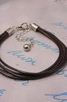 Гривна шнур памук Корея CCB 195 мм кафява