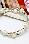 Гривна стомана естествена перла спирала 55 мм