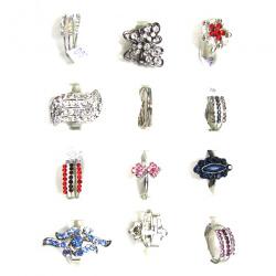 Δαχτυλίδι  με κρυσταλλάκια διάφορα σχέδια