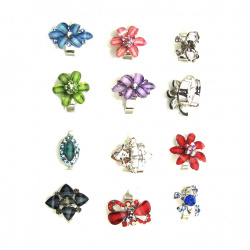 Δαχτυλίδι λουλούδι διάφορα σχέδια