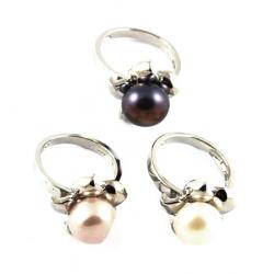 Пръстен метал естествена перла
