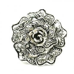 Пръстен метал 17 мм цвете