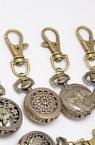Ключодържател часовник отварящ метал цвят античен бронз 80 мм АСОРТЕ