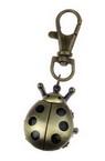 Ключодържател часовник отварящ метал цвят античен бронз 75 мм калинка