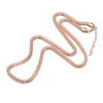 Metal necklace 5x3 mm gold color 33 cm