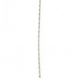 Lanț din oțel inoxidabil 316L 480x2 mm culoare argintiu