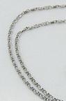 Синджир от неръждаема стомана цвят сребро 316L 580x2.5 мм
