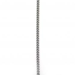 Гердан неръждаема стомана цвят сребро 5 мм 30 см