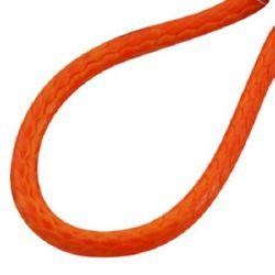 Necklace cotton cord  Korea 2 mm 45 cm orange