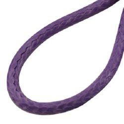 Гердан шнур тъмно лилав  Корея 2 мм 45 см