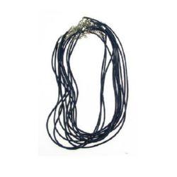 Гердан шнур памук Корея 2 мм 45 см син тъмно