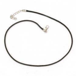 Necklace cotton cord Korea 2 mm 45 cm black
